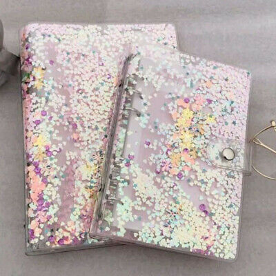 A5a6 Sequins Notebook Cover Loose Leaf Ring Binder File Folder Shake Card Hot