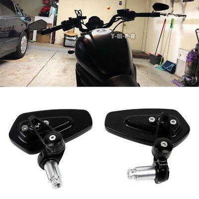 "Motorcycle 7/8"" Handle Bar End Mirrors For Honda Yamaha Suzuki Bobber Sportbike"