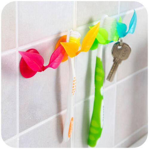 Tragbare Blatt Zahnbürste Rasierer Wand Halter Saugnapf Sucker Badezimmer