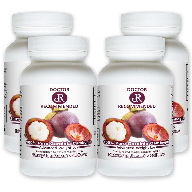 4 x 100% Pure Garcinia Cambogia Extract 100% HCA Weight Loss
