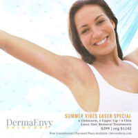 Laser Hair Removal Special! Underarms, Upper Lip, and Chin!