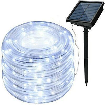 Solar led Rope Strip Fairy Waterproof Outdoor Holiday garden string lights Dec ()