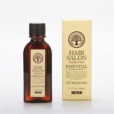 60ml Argan Oil Hair Care Moisture Nourishing Smooth Scalp Dry Repair Treatment