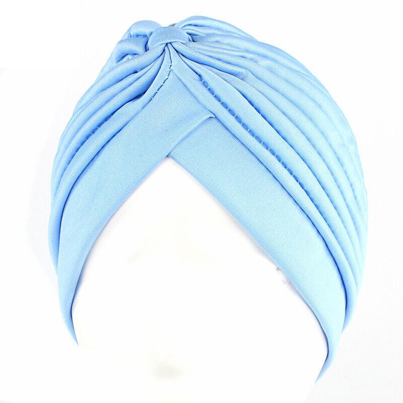 Women Solid Turban Head Wrap Chemo Caps Hair Loss Soft Hijab Casual Headwear Hat Clothing, Shoes & Accessories
