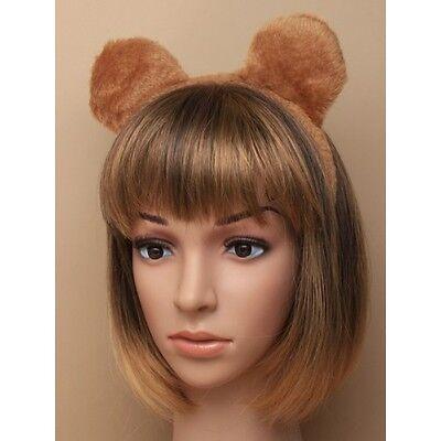 Brown Teddy Bear Furry Fabric Teddy Bear Ears Aliceband Book Week Day Accessory](Halloween Brown Bear Book)