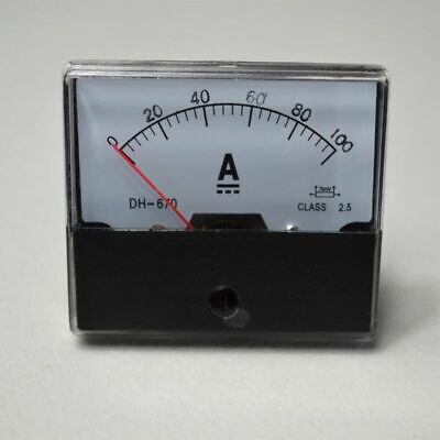 0-100a Analog Amp Meter Panel Meters Ammeter Dc Outlet Current Test