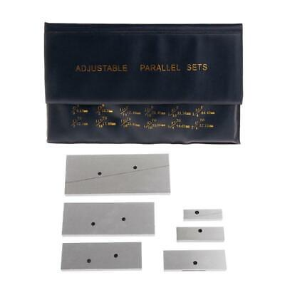Adjustable Parallel Sets 6pc 38 - 2-14 For Layout Inspection Stop Work