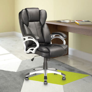Corliving Workspace Leatherette Manager Executive Chair - Blac