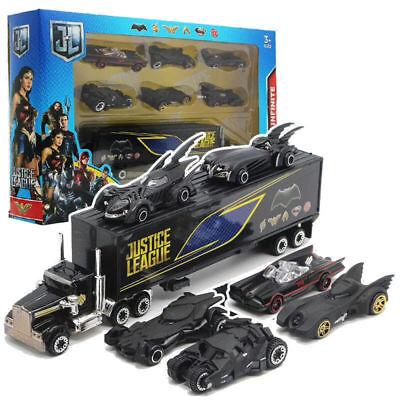 Set of 7 Batman Batmobile & Truck Car Model Toy Vehicle Meta