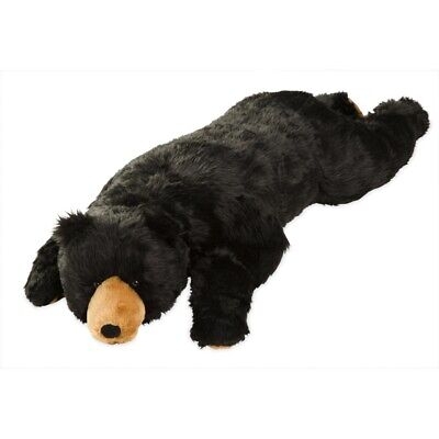 Large Life Sized Plush Black Bear Body Pillow - Life Sized Stuffed Animals