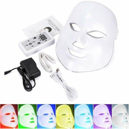7 Colors LED Light Photon Face Mask Rejuvenation Skin Therap