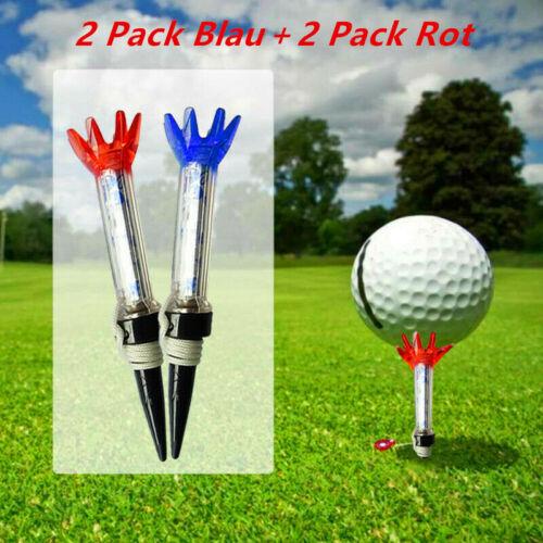 Golf Tee Magnet Premium Tees 4 Pack Magnetische Tees Mit Anker Blau Rot Brandneu