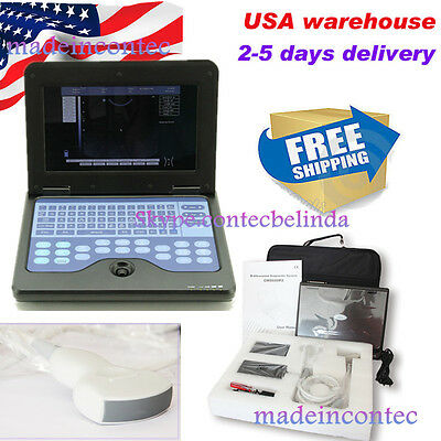 Portable Laptop Machine Digital Ultrasound Scanner3.5 Convex Probeusa Fedex