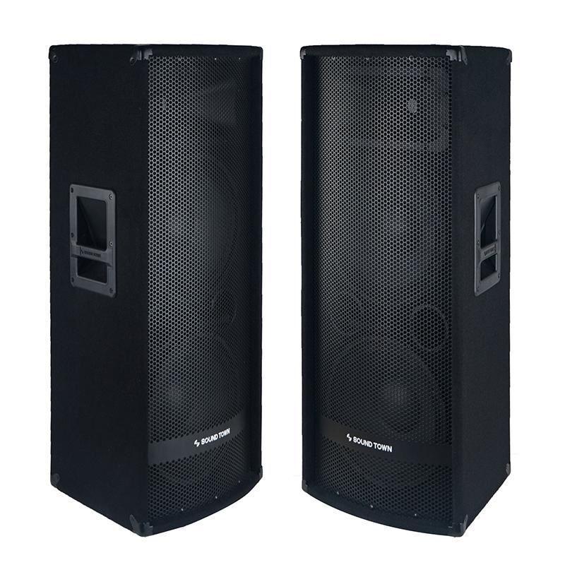 "Sound Town Dual 12"" 2400W Full-range Passive DJ PA Loud Spea"