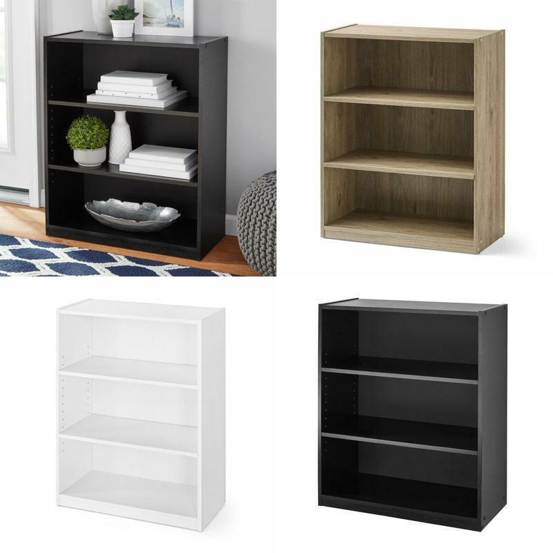 "Mainstays 31"" 3 Shelf Bookcase, Black"