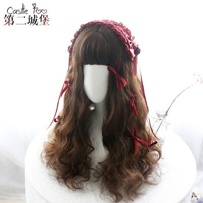 Japanese Harajuku Brown Cute Kawaii Lolita Sweet Dolly Long Curly Hair Wig