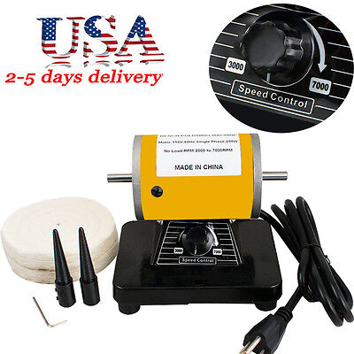 260w Dental Lathe Mini Polisher Polishing Machine Tools For Jewelry 30k Rpm Usa