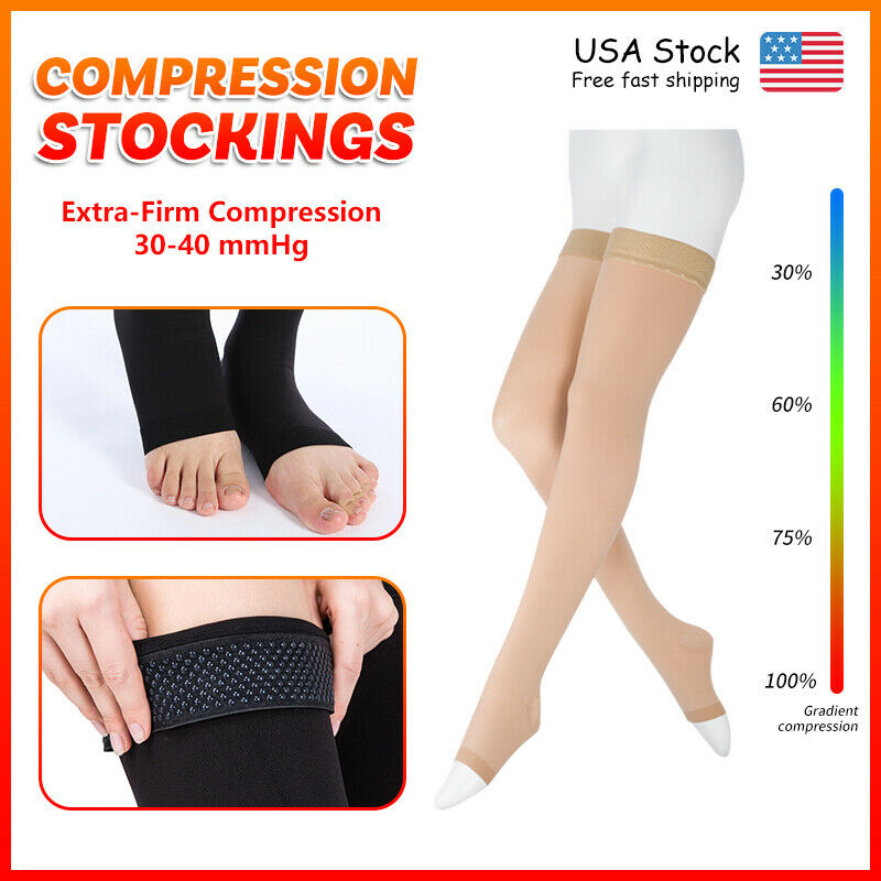 Compression Stockings Support Circulation & Recovery Men Wom