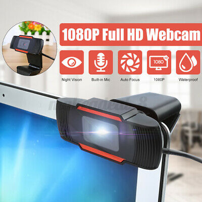 1080P Upgrade HD Webcam Camera Web Cam W/Mic For Computer Desktop Adjustable