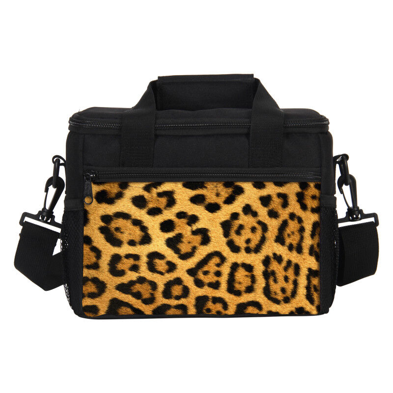 Details About Leopard Print Thermal Insulated Lunch Bag Kids Picnic Food Drink Cooler Bo