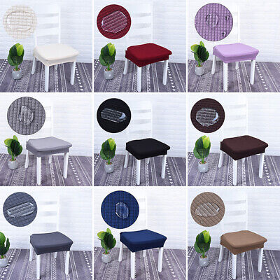Waterproof Stretch Kitchen Dining Chair Seat Cover Protector For 16-20 Inch S_DM