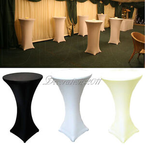 1 lycra dry bar table spandex covers stretch fitted for Cocktail tables diy