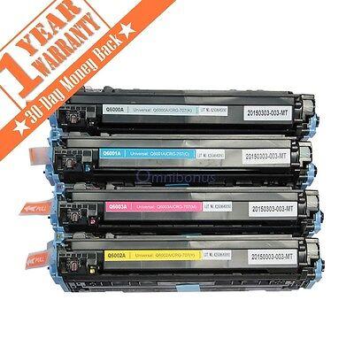 4 Color Toner Combo Set For HP LaserJet 1600 2600 2600n 2605 2605dnt Q6000A -