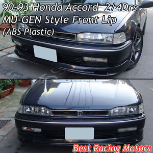 Mugen Style Front Bumper Lip ABS Fits 9093 Honda Accord  eBay