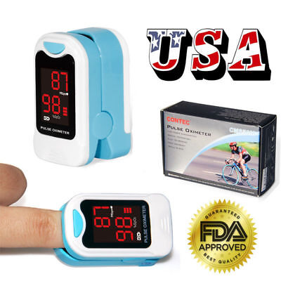 Usa Finger Pulse Oximeter Blood Oxygen Spo2 Pulse Rate Heart Rate Monitorpouch