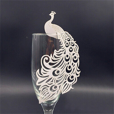 50PCS Laser Cut Name Place Cards For Wedding Party Table Wine Glass DecorationLE](Wedding Name Cards)