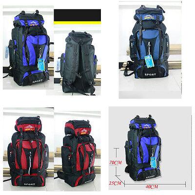 Best Mountaineering Waterproof Backpack 70L Hiking Camping Bag Rucksack