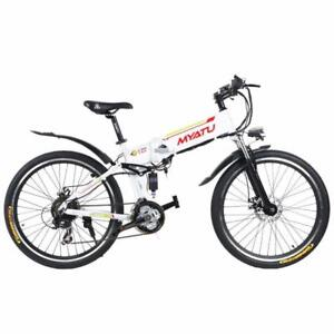 """Summer Promotion!  High Quality 26"""" ALUMINUM ALLOY FOLDING MOUNTAIN EBIKE, X5-26, 500W,  White $1599(was $2099)"""