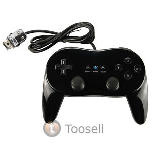 Black Pro Classic Game Controller Remote For Nintendo Wii New
