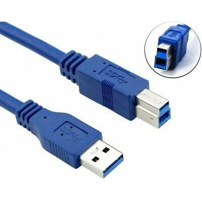 Equip câble USB 3.0  USB A, USB B, Mâle/Mâle, Bleu 1m