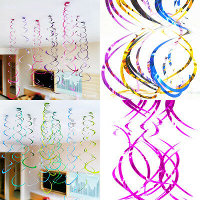 Ceiling Hanging Decorations (Hanging Swirls x 5 Ceiling Decorations New Years Eve Baby Shower Wedding)