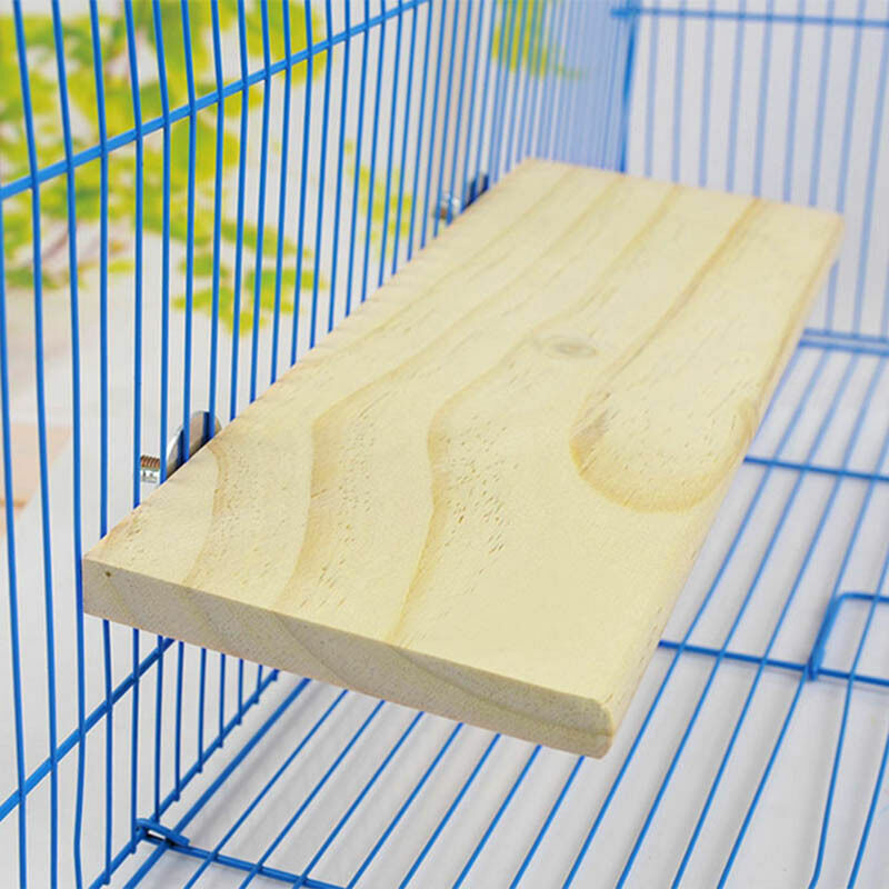 1xRound Wood Coin Parrot Bird Cage Perches Stand Platform Pet Budgie Hanging Toy