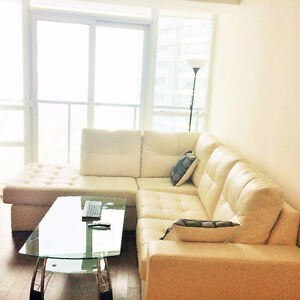 Furnished Room & Private Washroom with Lake and Downtown View