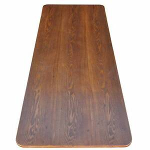Solid Chestnut Wood Table Top, Soft Edging and Round Corners Silverwater Auburn Area Preview