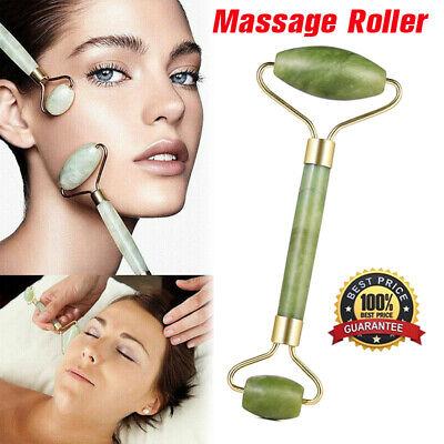 Natural Facial Jade Roller Massager Face Neck Body Gua Sha Board Massage Tool UK