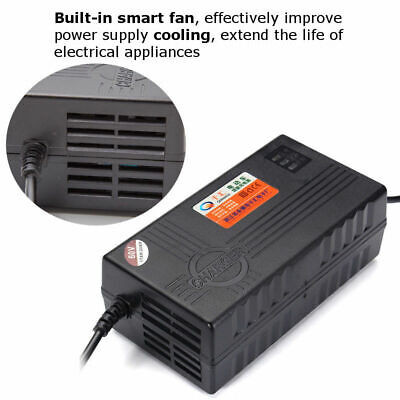 60V 20AH Blei-Säure Batterie Ladegerät Adapter für Elektrofahrrad Fahrrad Roller (Blei-säure-batterie-ladegerät)