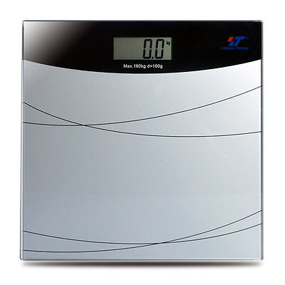 Electronic LCD Digital Bathroom Body Weight Scale Tempered Glass with Battery