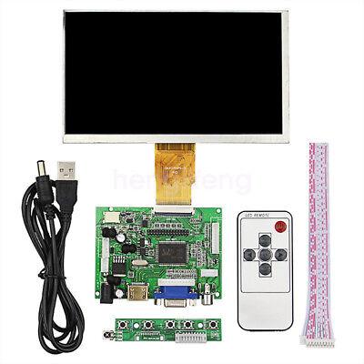 7 Inch 1024x600 Lcd Screen Display Monitor W Driver Board Ir For Raspberry Pi