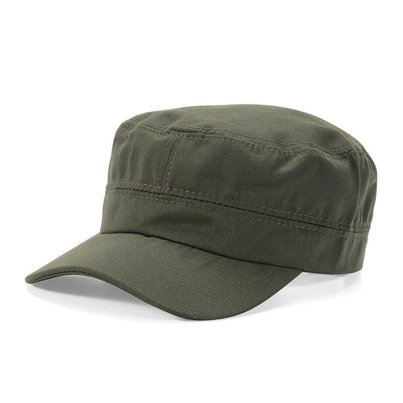 Mens Womens Army Military Plain Hat Classic Cadet Style Outdoor Adjustable Cap Clothing, Shoes & Accessories