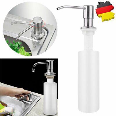 【DE】 Edelstahl Einbau Seifenspender Spülmittelspender Küche & Badezimmer Zubehör Seifenspender