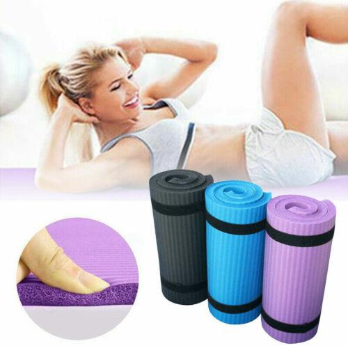 15mm Thick Yoga Mat Exercise Fitness Camping Pilates Non-Sli