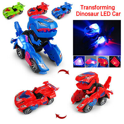 Toys for Kids Transforming Dinosaur LED Car With Light Sound