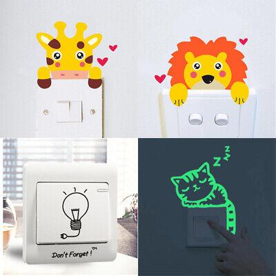 Kids Room Decorations Animal Light Switch Sticker Glow in the Dark Light