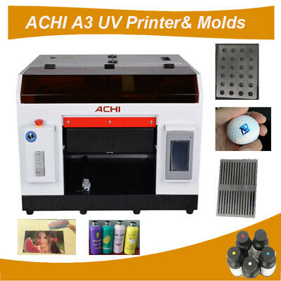 Achi A3 Uv Printerrotary Holder For Flat Cylindricalgolf And Pen Molds
