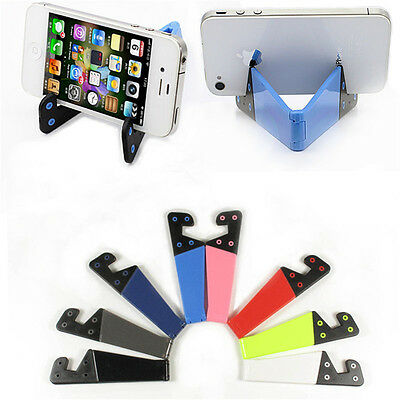 Foldable Mobile Cell Phone Stand Holder For Smartphone Tablet Pc Universal