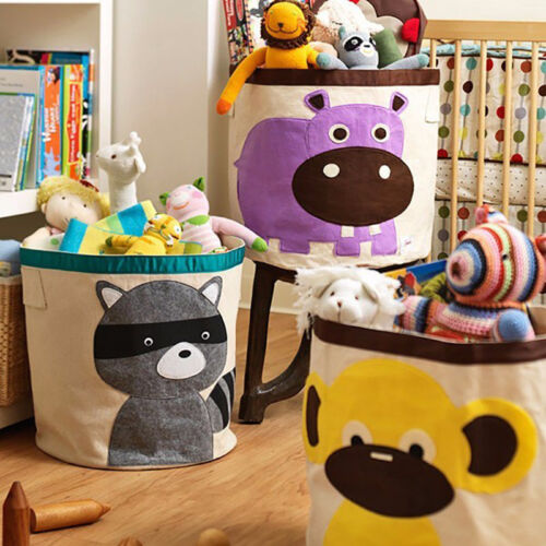 Sweet Large Kid Animal Sundries Clothes Basket Toys Storage Bag